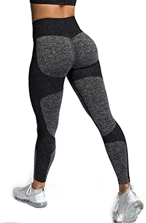 ShinyStar High Waisted Leggings for Women, Seamless Tight Sexy Yoga Pants Tummy Control Workout Leggings Sports Trousers