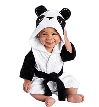 Surenow Albornoz Pijama Camisón Batas Felpa Toalla Animados para Niñas Niños Bebé