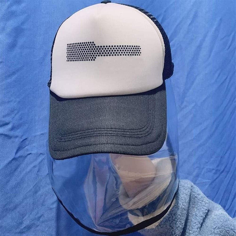 Máscara protectora Máscara Máscara de seguridad de la cubierta con el sombrero anti combustión saliva a prueba de viento cubierta que aisla la saliva de la cara llena la protección de ojos tapa protec