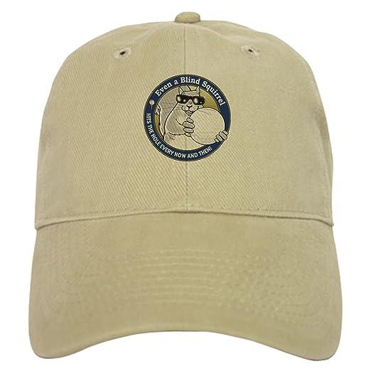 7f32dee88cdf6 CafePress - Golf Blind Squirrel Cap - Baseball Cap with Adjustable Closure