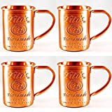 Tito's Vodka Moscow Mule Copper Mugs Gift Set of 4