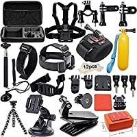 YFY 19-In-1 Basic Outdoor Sports Accessories Kit for GoPro Hero Cameras