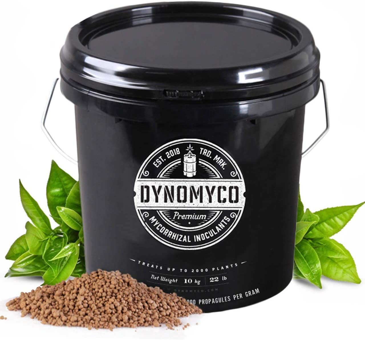 Mycorrhizal Inoculant by DYNOMYCO – High Performing Strains – Concentrated Formula – Improves Nutrient Uptake – Increases Plant Yields Enhances Resilience to Stress Saves Fertilizer (10 Kg / 22 LB)