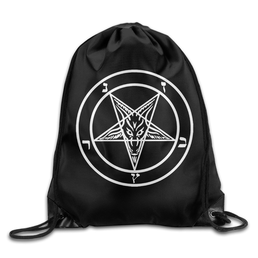 Demon Sigil Of Baphomet Cool Drawstring Backpack String Bag