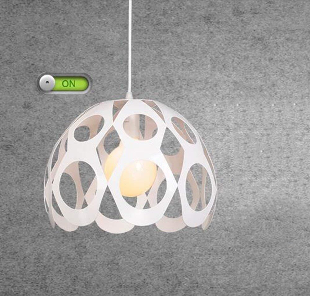 Oudan Nordic Restaurant Kronleuchter Einfache & Moderne Kreative Beleuchtung Bar Eisen Engineering Lights '(Farbe  Schwarz) (Farbe   Weiß)