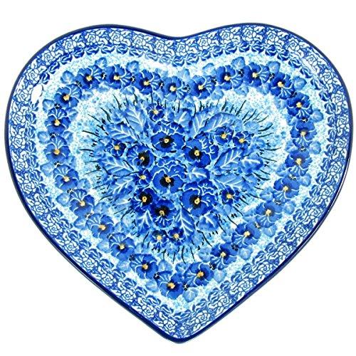 "Polish Pottery Ceramic Plates (Polish Pottery Limited Edition 9"" U4 Signature Heart Plate 925-3639)"