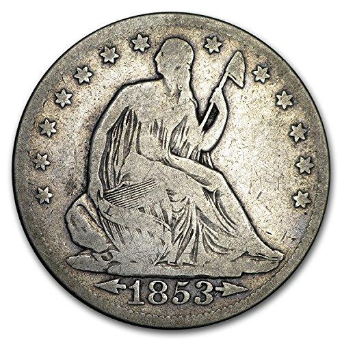 (1853 Liberty Seated Half Dollar w/Arrows & Rays VG Half Dollar Very Good )