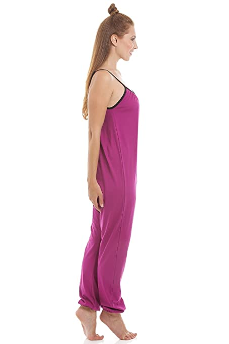 Amazon.com  Camille Womens Sleeveless Jersey Cotton Cerise Jumpsuit Onesie   Camille  Clothing 5d5c9232f