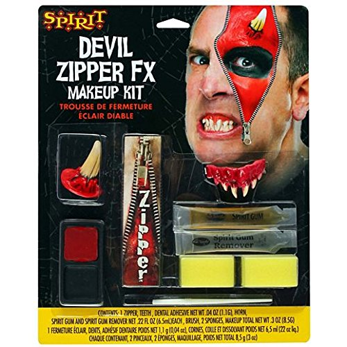 Fancy Face Paint Color Halloween Devil Zipper Appliance Kit -