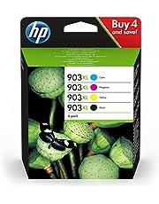 HP 3HZ51AE 903XL High Yield Original Ink Cartridges, Black/Cyan/Magenta/Yellow, Pack of 4