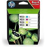 HP 903XL Cartuccia Originale Getto d'Inchiostro ad Alta Capacità, Nero + Ciano + Giallo + Magenta