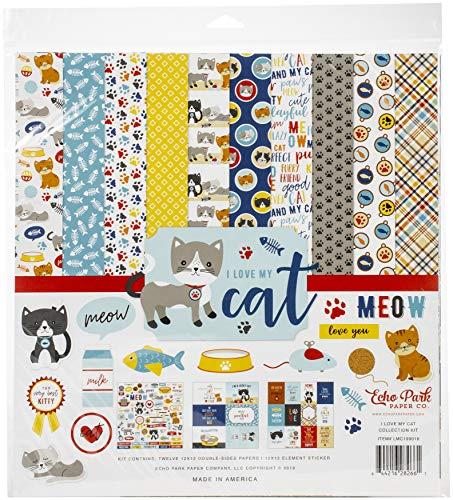 ECHO PARK PAPER COMPANY LMC199016 I Love My CAT COLL 12X12 KIT