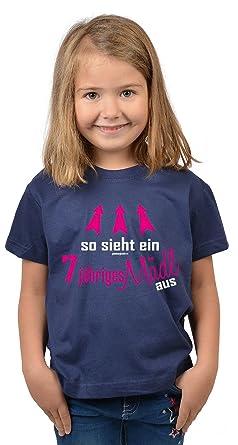 Mädchen Zum 7 Geburtstag 7 Jahre Alt T Shirt Geschenk Idee