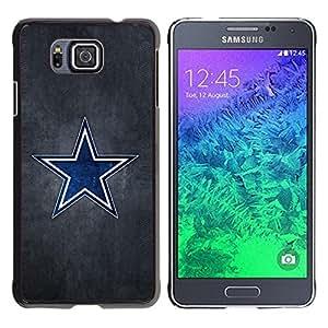 Be Good Phone Accessory // Dura Cáscara cubierta Protectora Caso Carcasa Funda de Protección para Samsung GALAXY ALPHA G850 // Blue Star Sports Team