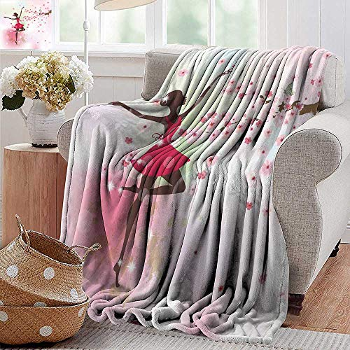 PearlRolan Cool Blanket,Kids Room,Ballet Butterfly Fairy Ballerina Princess