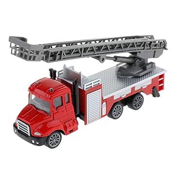 perfeclan 1:64 Juquete de Coche Plástico con Escalera de Incendios de Levantar Mini Modelo de Automóvil - camión de Escalera: Amazon.es: Juguetes y juegos