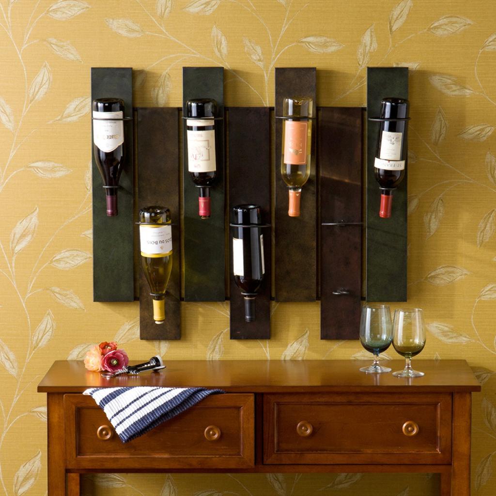 southern enterprises navarra wall mount wine rack amazonca home  - view larger