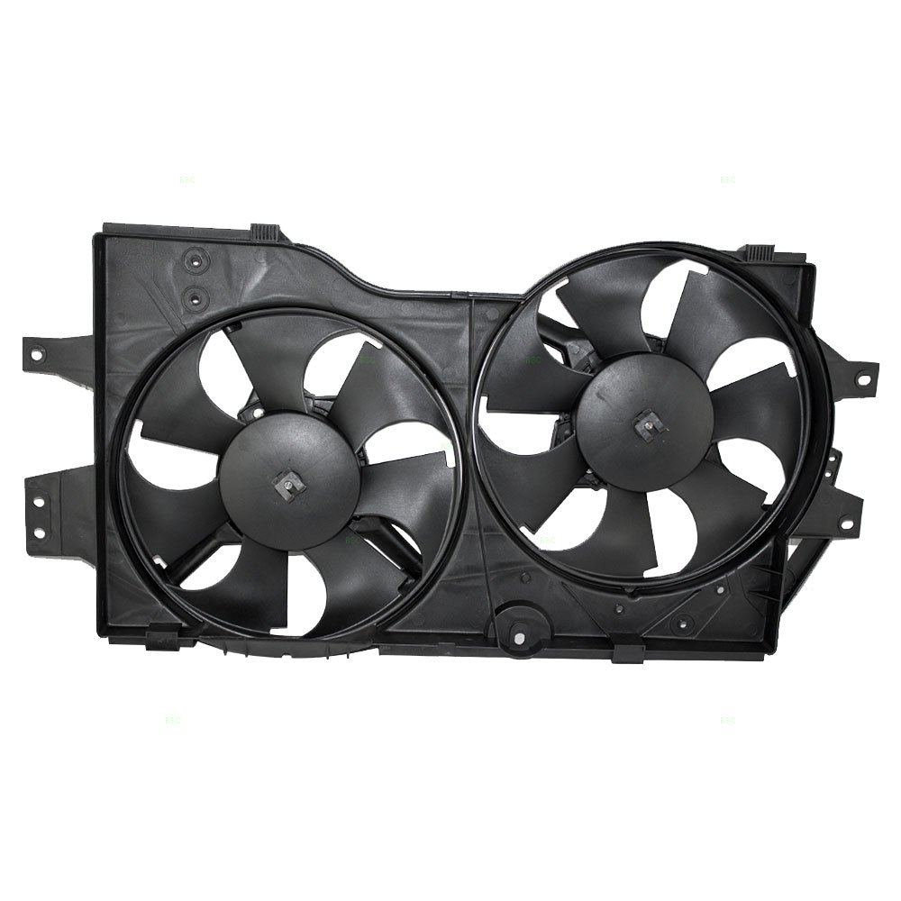 Dual Cooling Fan Assembly Replacement for Dodge Chrysler Plymouth 4682624 AutoAndArt