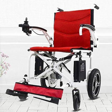 Ultraligero Plegable Aleación de aluminio Mayor Eléctrico Silla de ruedas Discapacitado Scooter Operación Inteligente Batería de