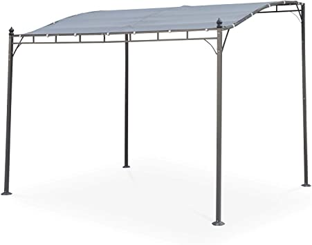 Alices Garden - Pérgola de Pared 3x2.5m Gris - BRESTUM: Amazon.es: Jardín