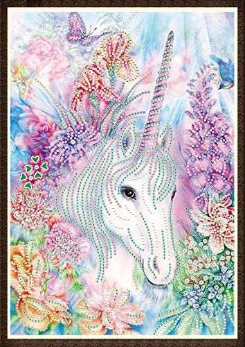 4 Pack ABEY 12X16in 5D Diamond Painting Kits Set Colorful Unicorn Full Drill Diamond Adults Kids for Home Wall Decor