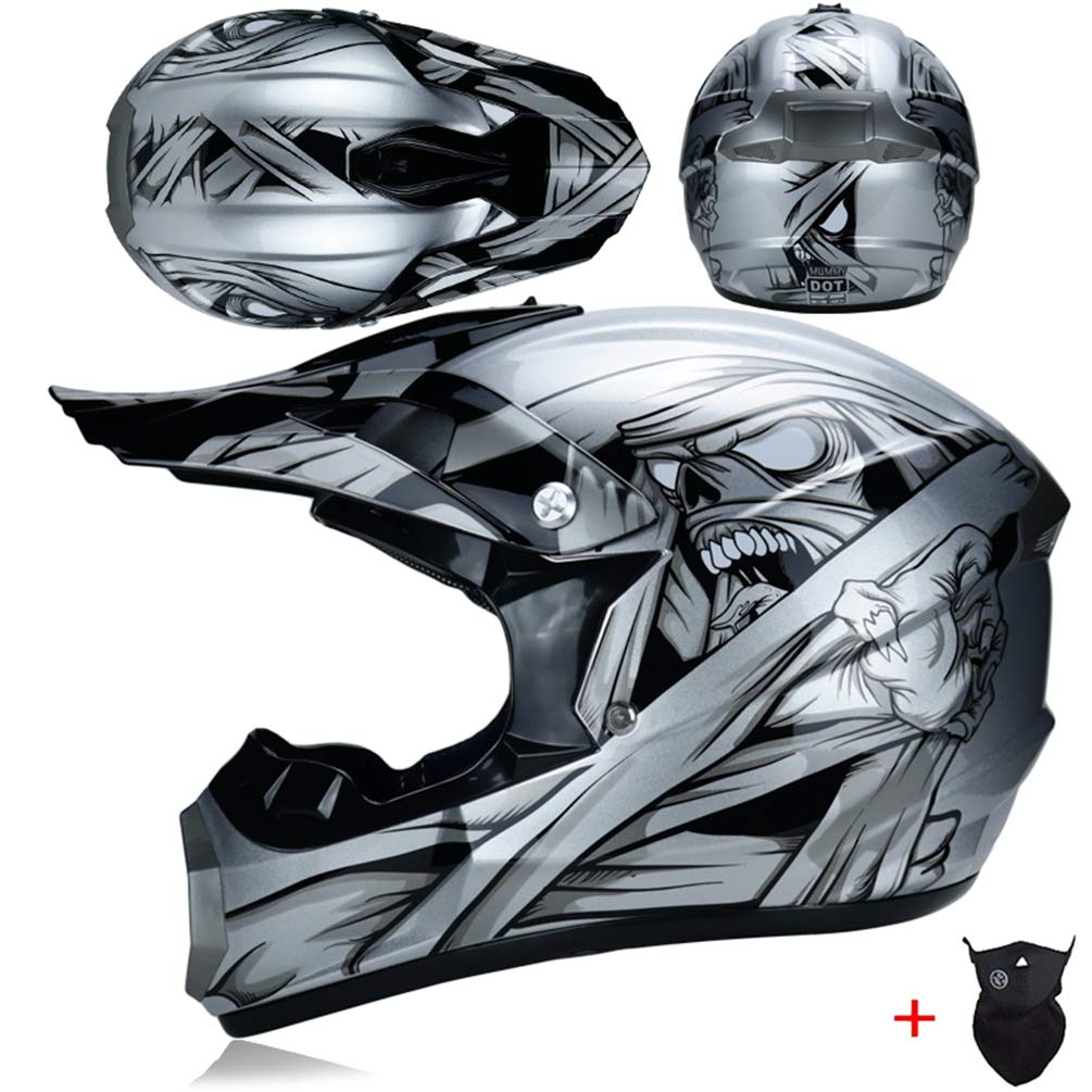 Casco da motociclista per adulti fuoristrada ATV Dirt Bike Downhill Casco cross MTB DH Racing Helmet WZBinsen