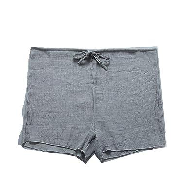 59ecba8bcc Womens Cotton Beach Summer Shorts,Drawstring Casual Hot Shorts Trousers  Comfy Mini Shorts Green
