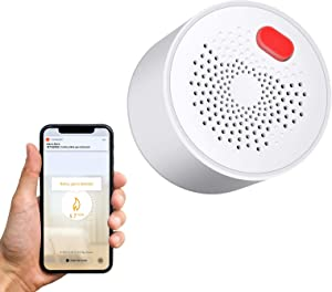 WiFi Gas Leak Detector, Natural Gas Detector/Propane Detector for Home, Plug-in-Play Gas Leak Alarm for LPG, LNG, Methane & Butane Gases,Voice Sound/Light Warning,Tuya/Smart Life APP Control