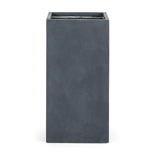 Blumfeldt Solidflor Macetero fibra de vidrio y magnesio (40x80x40 cm, maceta resistente heladas, cubo para plantas decorativo, gran estabilidad, ...
