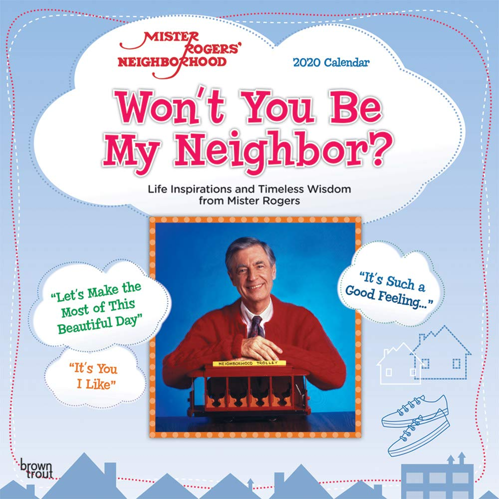 Mister Rogers' Neighborhood 2020 12 x 12 Inch Monthly Square Wall Calendar, PBS Series Television by SMALL CHANGES