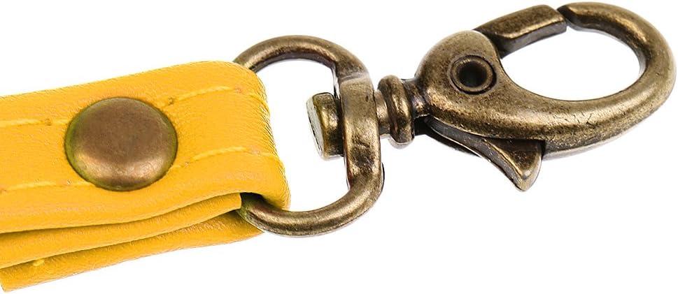 Correa de Cuero de Mano Reemplazo para Bolso Amarillo