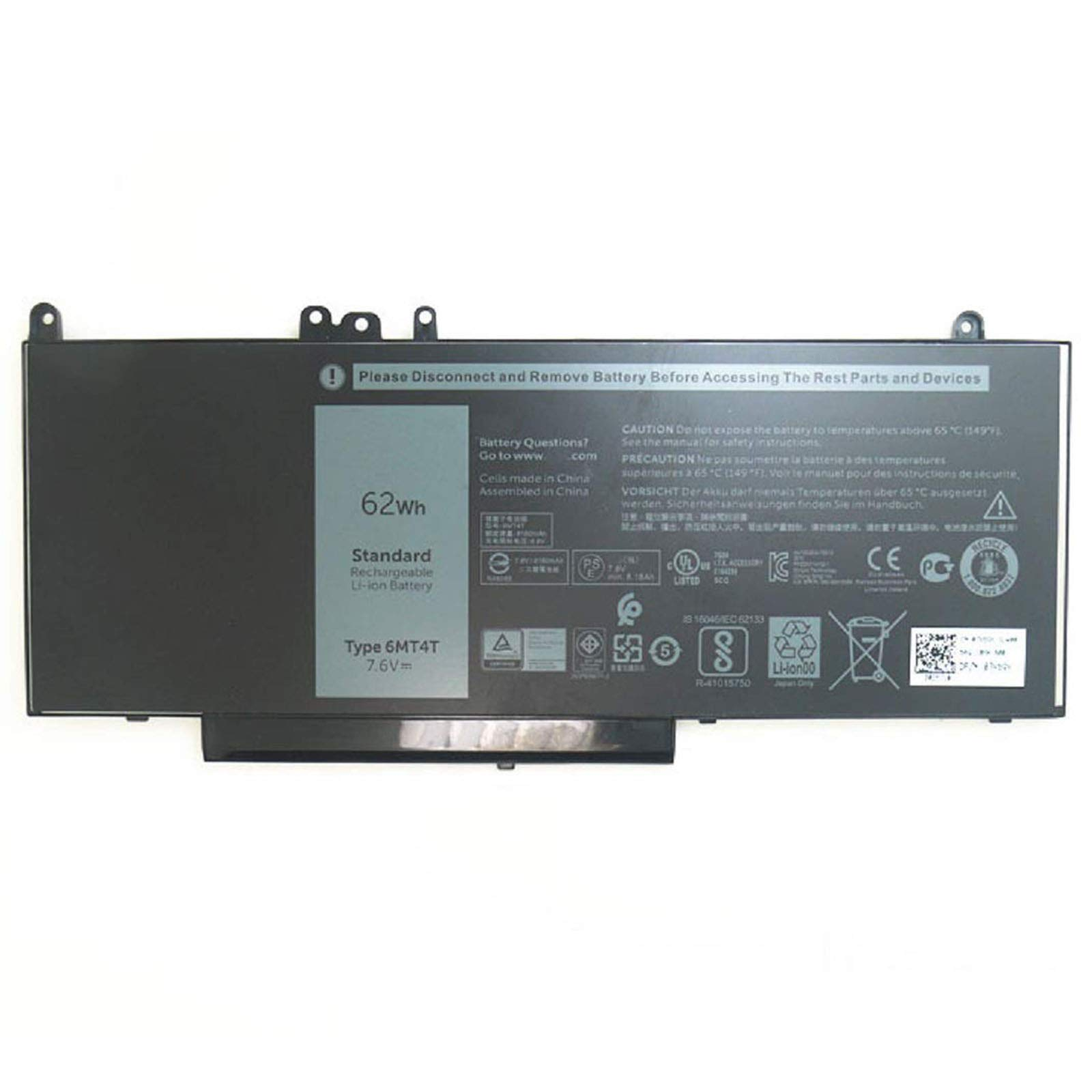 Bateria Dell 6mt4t 62wh Latitude E5470 E5570 Precision 3510