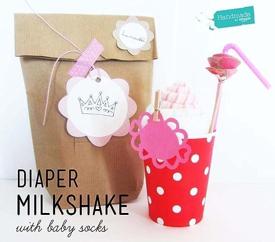 Milkshake para Bebé (=Calcetines + 1 Pañal DODOT) con Bolsita KRAFT | Baby