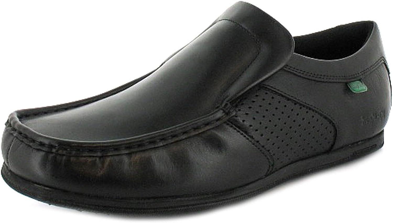 Mens/Gents Black Moorgate Leather Slip