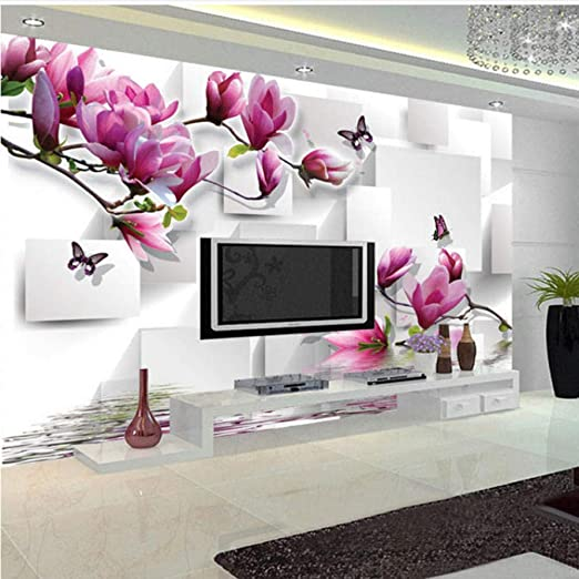 Amazon Com Xbwy Fashionable Interior Design Photo Wallpaper 3d Stereo Square Orchid Reflection Aesthetic Mural Living Room Tv Backdrop 250x175cm Kitchen Dining