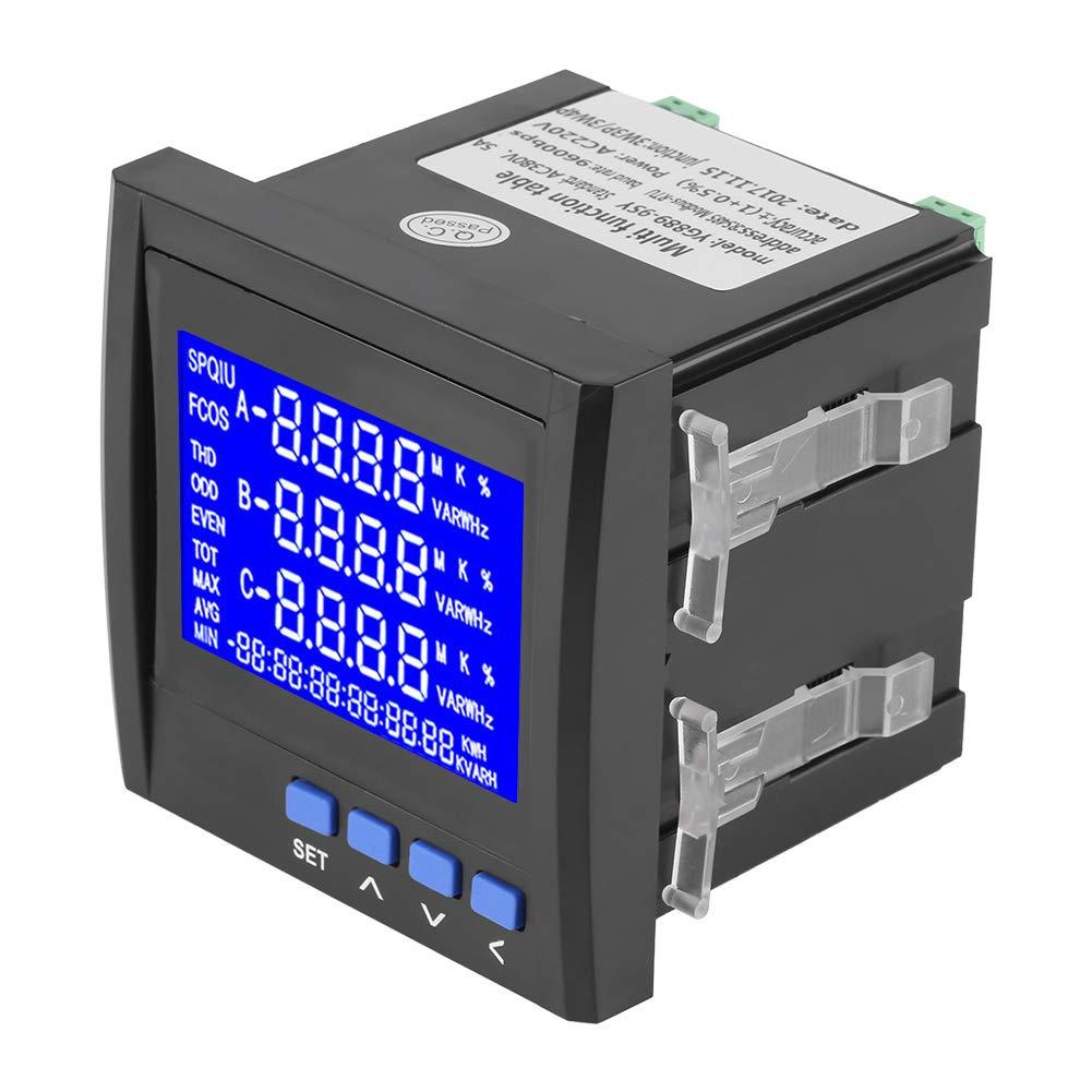 Gojiny Medidor de energ/ía de potencia de frecuencia de voltaje de corriente el/éctrica multifunci/ón trif/ásica v a hz kwh rs485