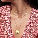 Fettero Virgin Mary Necklace, Delicate Dainty