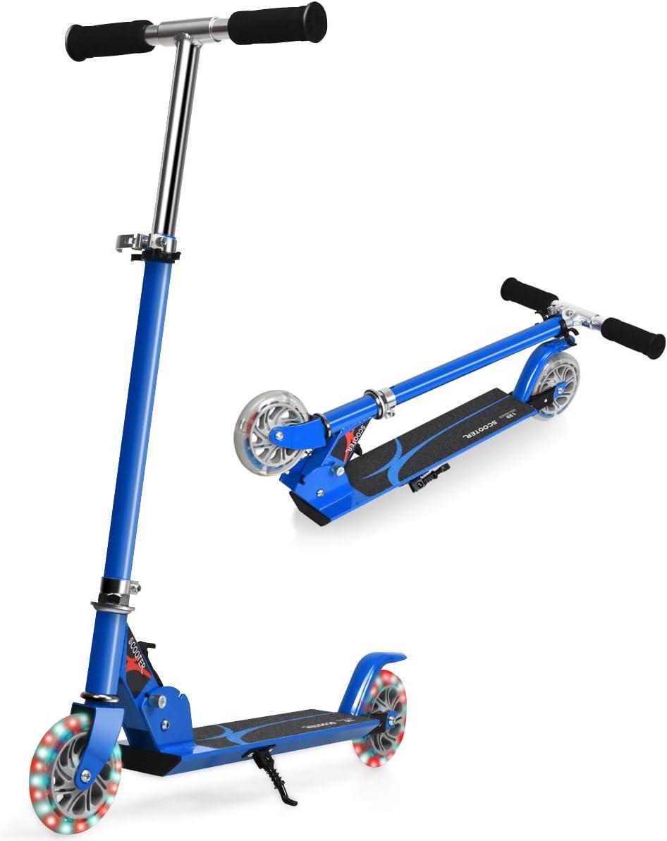 Fascol Kinderroller Klappbar Scooter Roller mit Blinkenden Räder Tretroller DHL