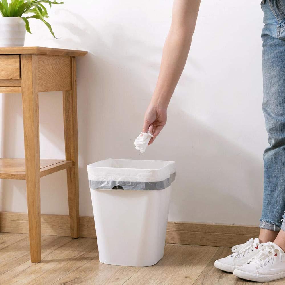 Camerlon 3//5 Rotolo Coulisse Sacchetti di immondizia Cucina Addensare Rullo Sacchetti di Spazzatura Portatile USA e Getta Sacchetto dei rifiuti di casa bianco45x50 cm