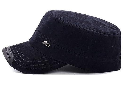 06bd1a7f81f Unisex Flat Top Cadet Cap Military Army Castro Patrol Sun Hat Vintage  Elastic Coffee  Amazon.ca  Luggage   Bags