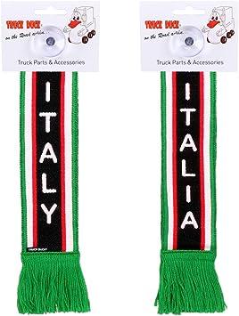 Truck Duck Lkw Auto Minischal Italien Italy Trucker Mini Schal Wimpel Flagge Fahne Saugnapf Spiegel Deko Auto