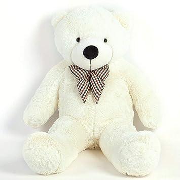 MoreGentle-120 cm colchón gigante blanco oso peluches de regalo XXL
