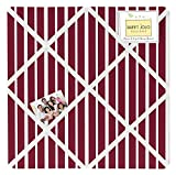 Sweet Jojo Designs Vintage Aviator Red Stripe Print Fabric Memory/Memo Photo Bulletin Board