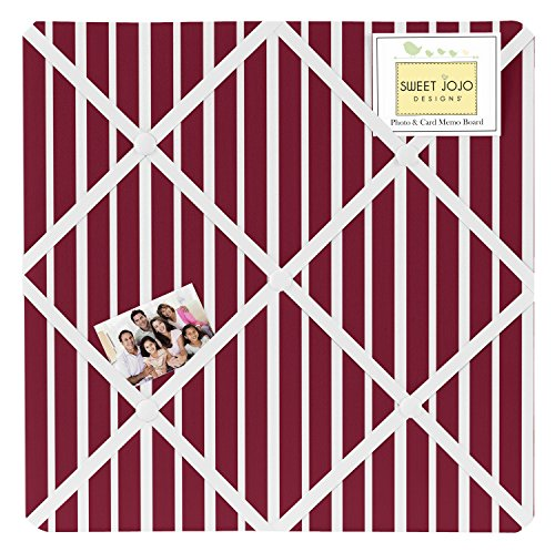Sweet Jojo Designs Vintage Aviator Red Stripe Print Fabric Memory/Memo Photo Bulletin Board by Sweet Jojo Designs