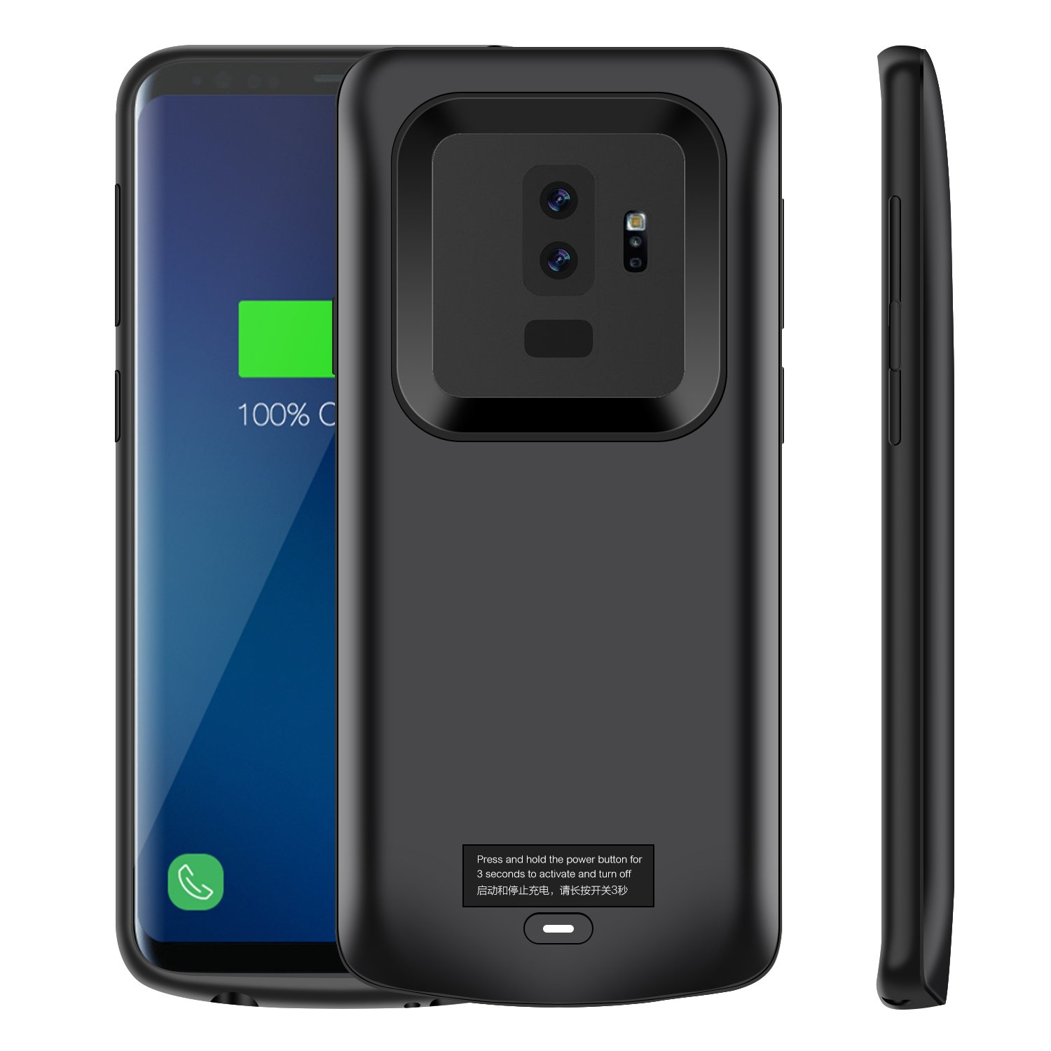 Galaxy S9 Plus Battery Case, Modernway 5200mAh Slim Portable Extend Battery Pack Charger Case, Rechargeable Charging Case for Samsung Galaxy S9 Plus(Black)