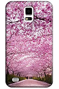 Sangu Cherry Pink Hard Back Shell Case / Cover for Samsung Galaxy S5