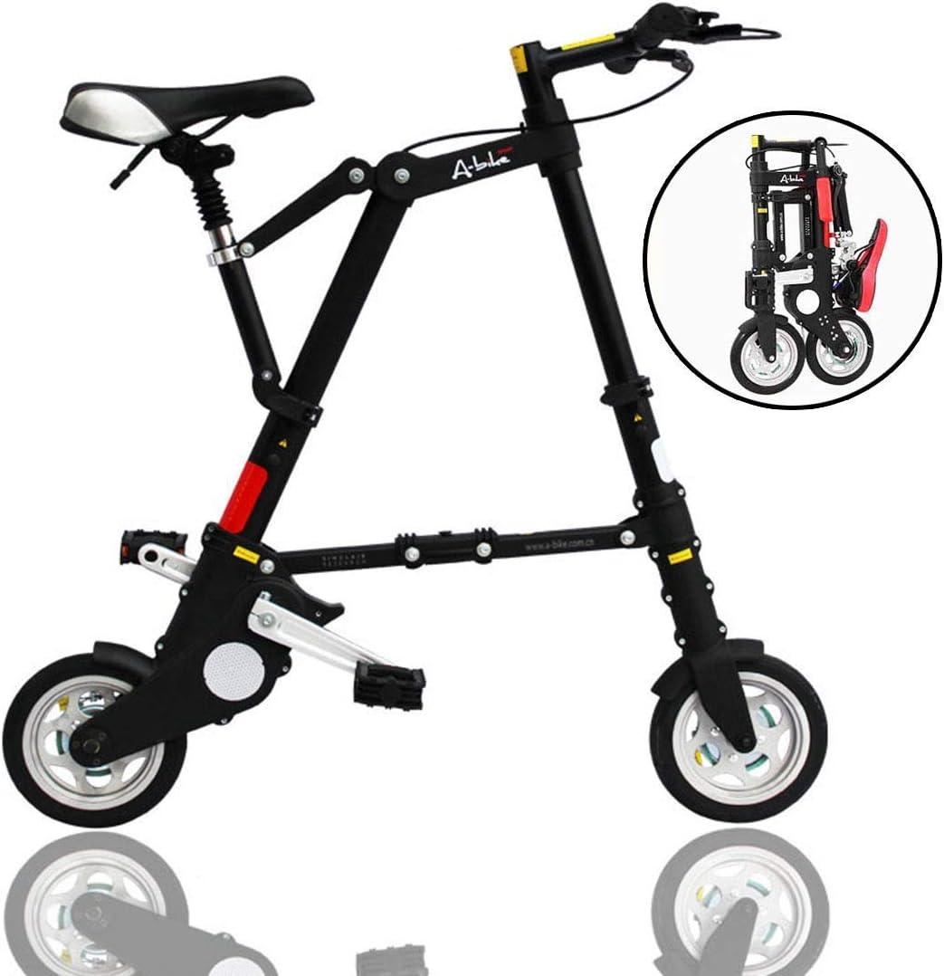 NZ-Children's bicycles Bicicletas Plegables Mini voladoras livianas, Cuadro más Resistente de aleación de Aluminio de 8