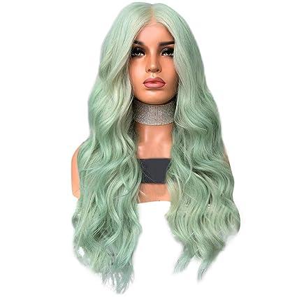 Staresen Pelucas Peluca corta rizada de pelo largo rizado ondulado para mujer cosplay fiesta peluca sintética