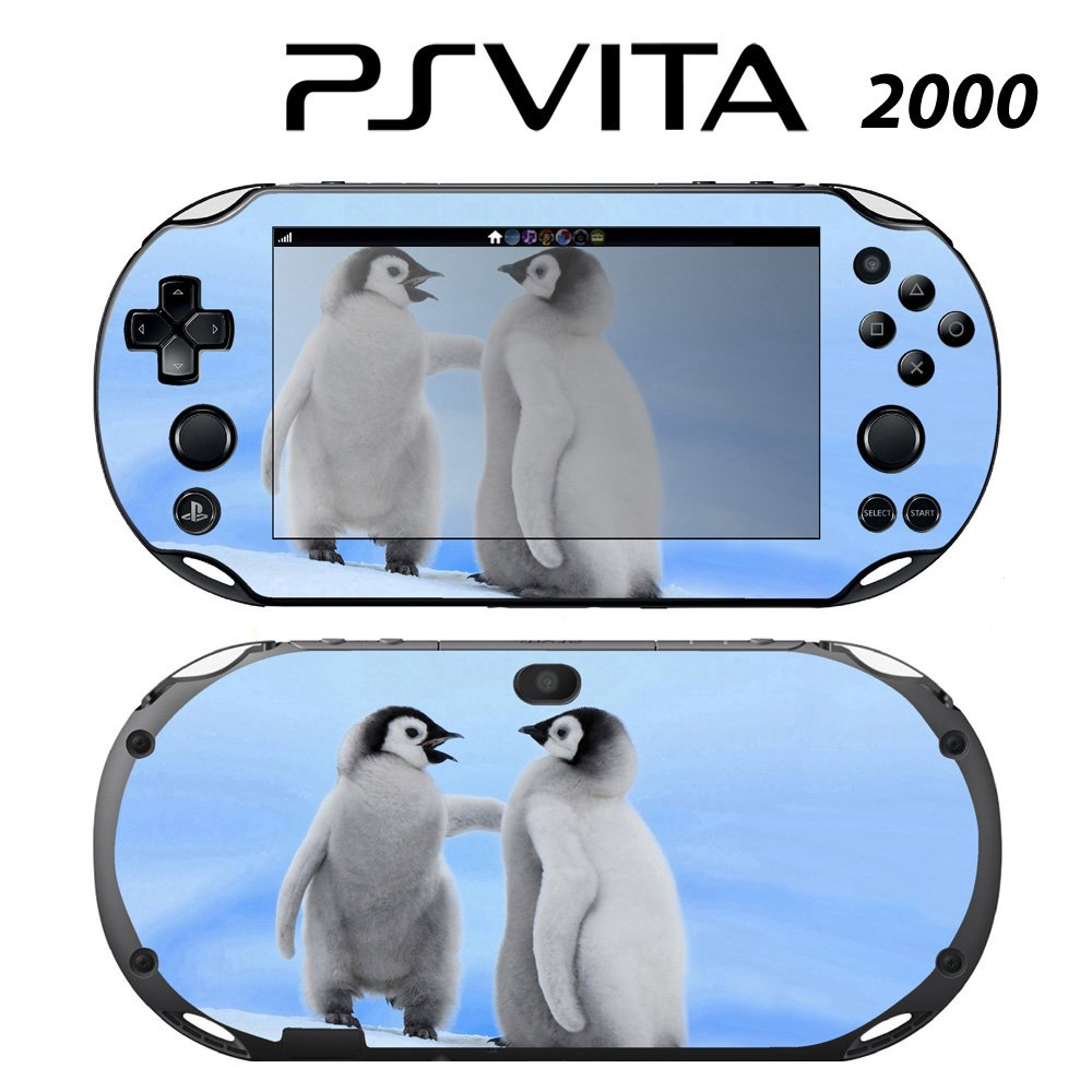 Decorative Video Game Skin Decal Cover Sticker for Sony PlayStation PS Vita Slim (PCH-2000) - Cute Happy Pengiun Babies