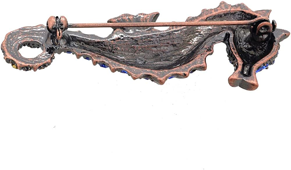 Fantasyard Blue Seahorse Pin Brooch